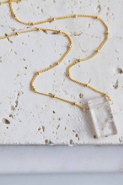 Mesa Blue Rectangle Quartz Necklace - Product Mini Image