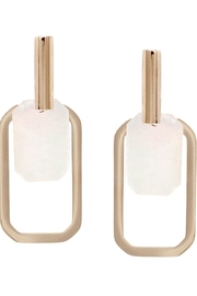 US Jewelry House Rectangle Shell Earrings - Front cropped