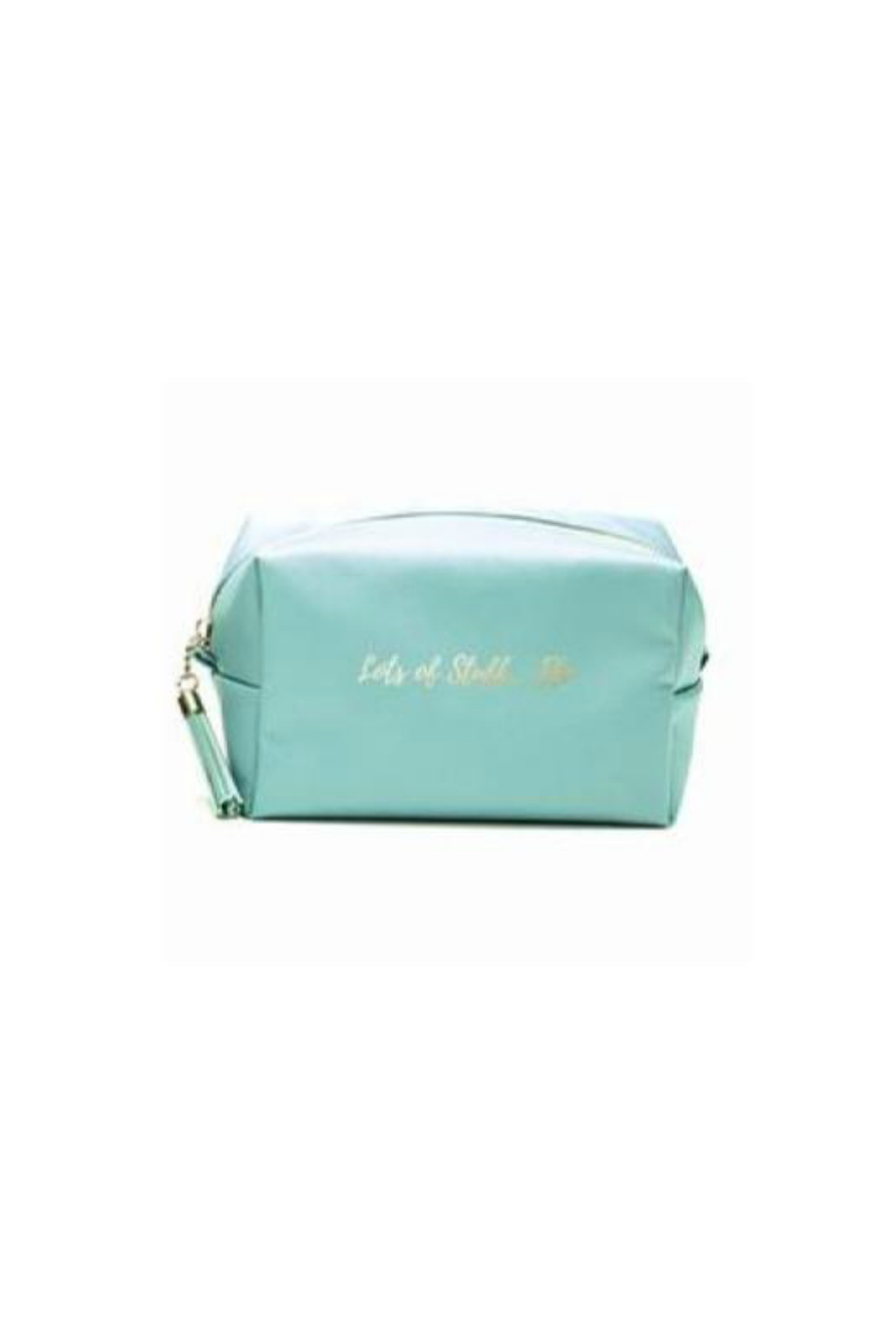 Two's Company Rectangular Cosmetic Bag - Front Cropped Image