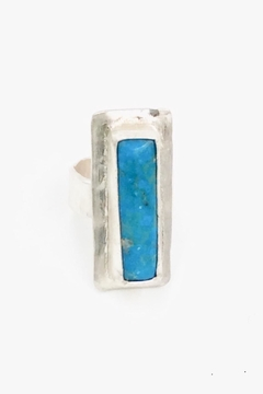 LJ Jewelry Designs Rectangular Turqoise Ring - Product List Image