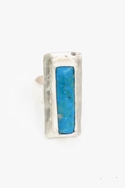 LJ Jewelry Designs Rectangular Turqoise Ring - Front cropped