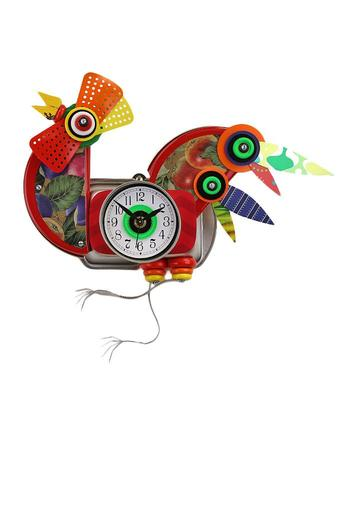 Recycled Rooster Clock - Main Image