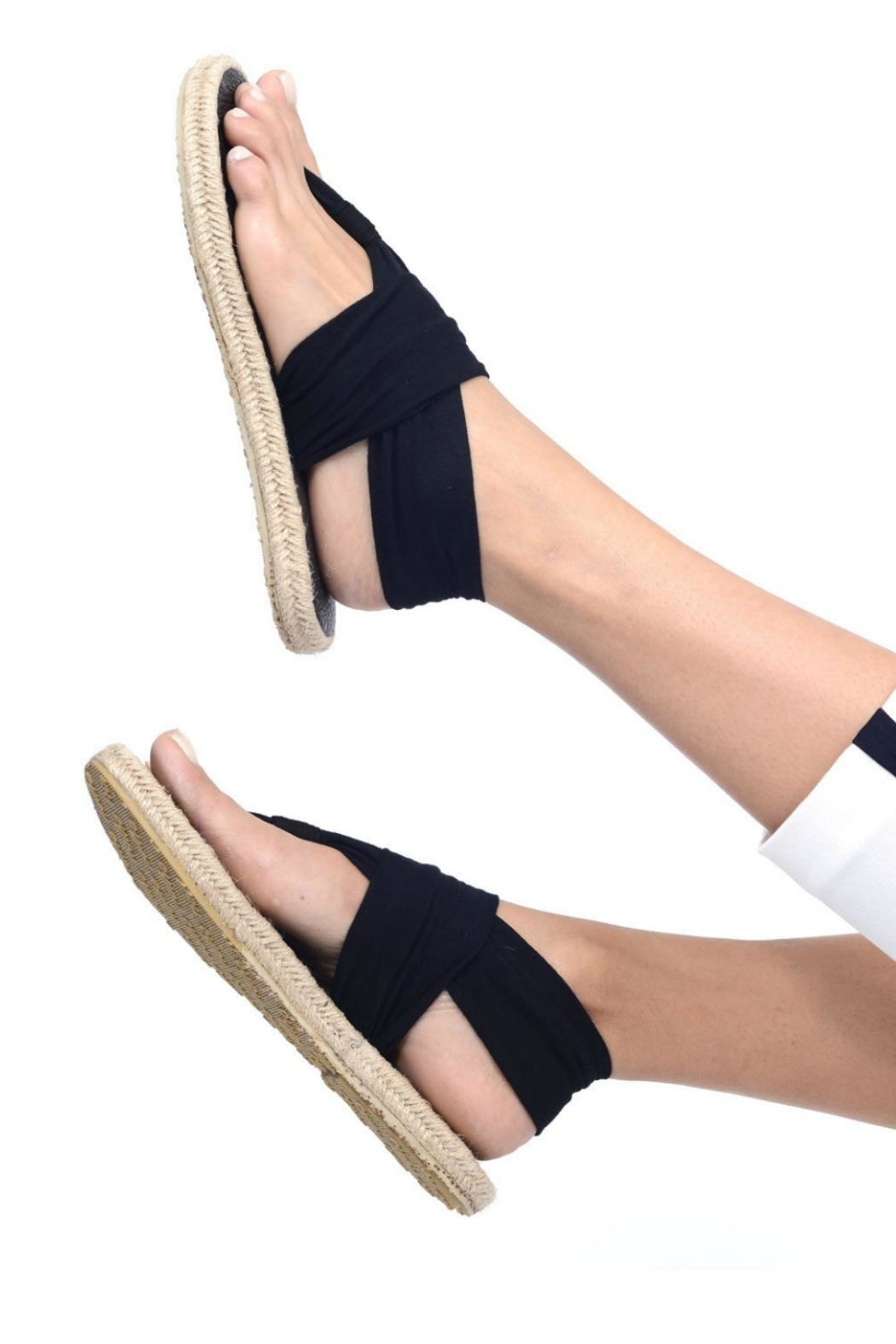 nalho Recycled Yoga Sandals - Front Cropped Image