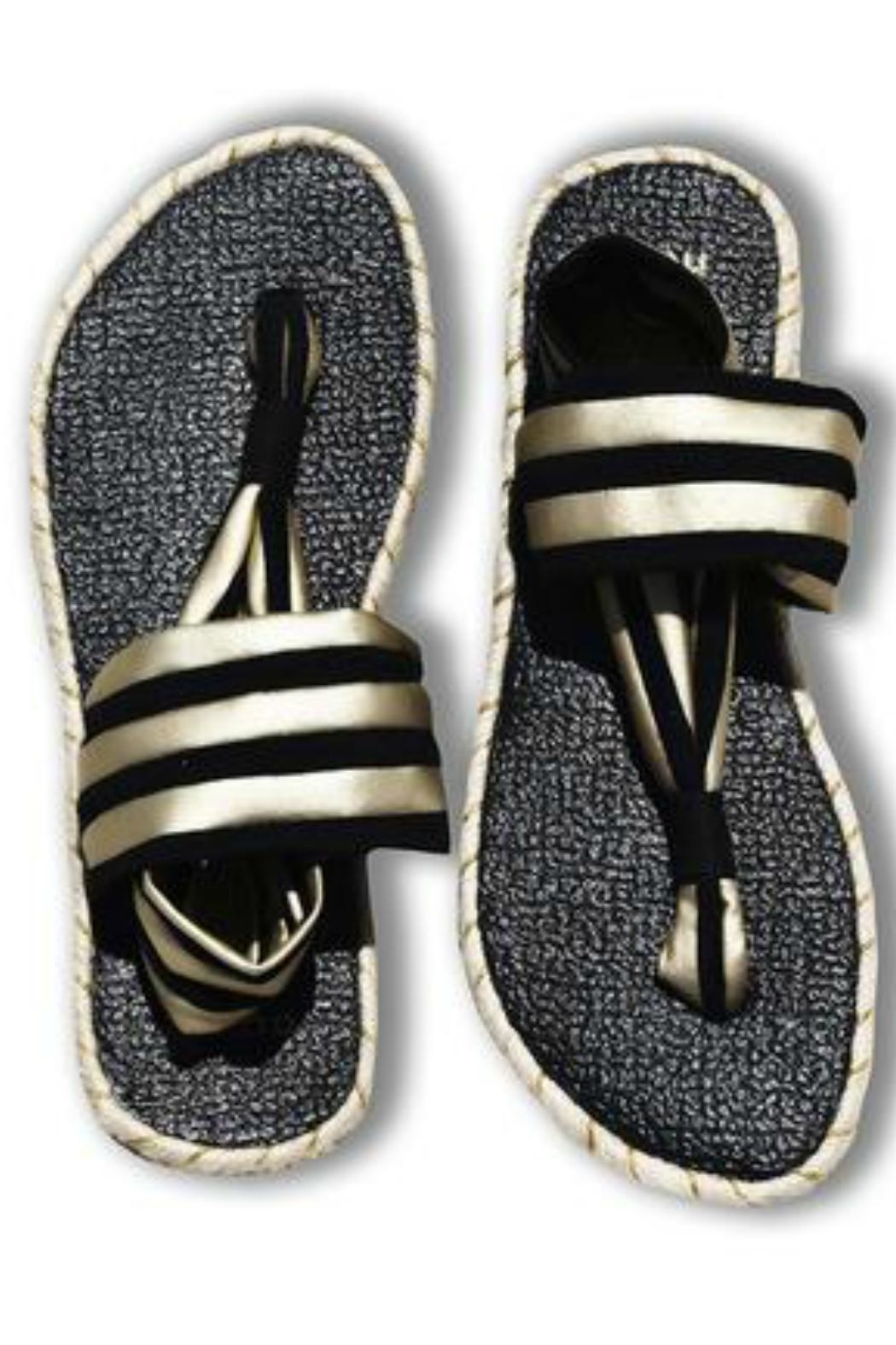 nalho Recycled Yoga Sandals - Front Full Image