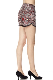 New Mix Red Abstract Shorts - Front full body