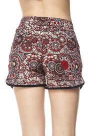 New Mix Red Abstract Shorts - Side cropped