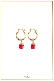 Malia Jewelry Red Agate Hoops - Product Mini Image