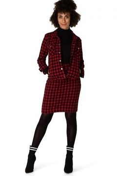 Yest Red and Black Plaid Jacket - Product List Image
