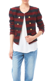 INSIGHT NYC Red and Navy Crop Jacket - Product Mini Image