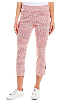 INSIGHT NYC Red and White Painted Stripe Techno Crop Pant - Product List Image