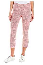 INSIGHT NYC Red and White Painted Stripe Techno Crop Pant - Product Mini Image