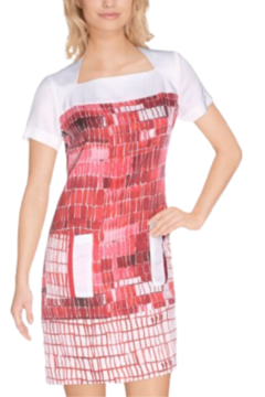 Shoptiques Product: Red and White Shift