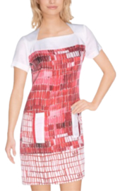 Aventures Des Toiles Red and White Shift - Product Mini Image