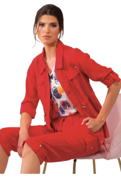 Alison Sheri Red Anorak Jacket - Product List Image