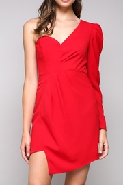 Do & Be Red Asymmetrical Dress - Product Mini Image