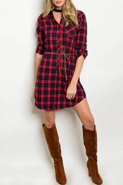 The Story Red/avy Plaid Dress - Product List Image