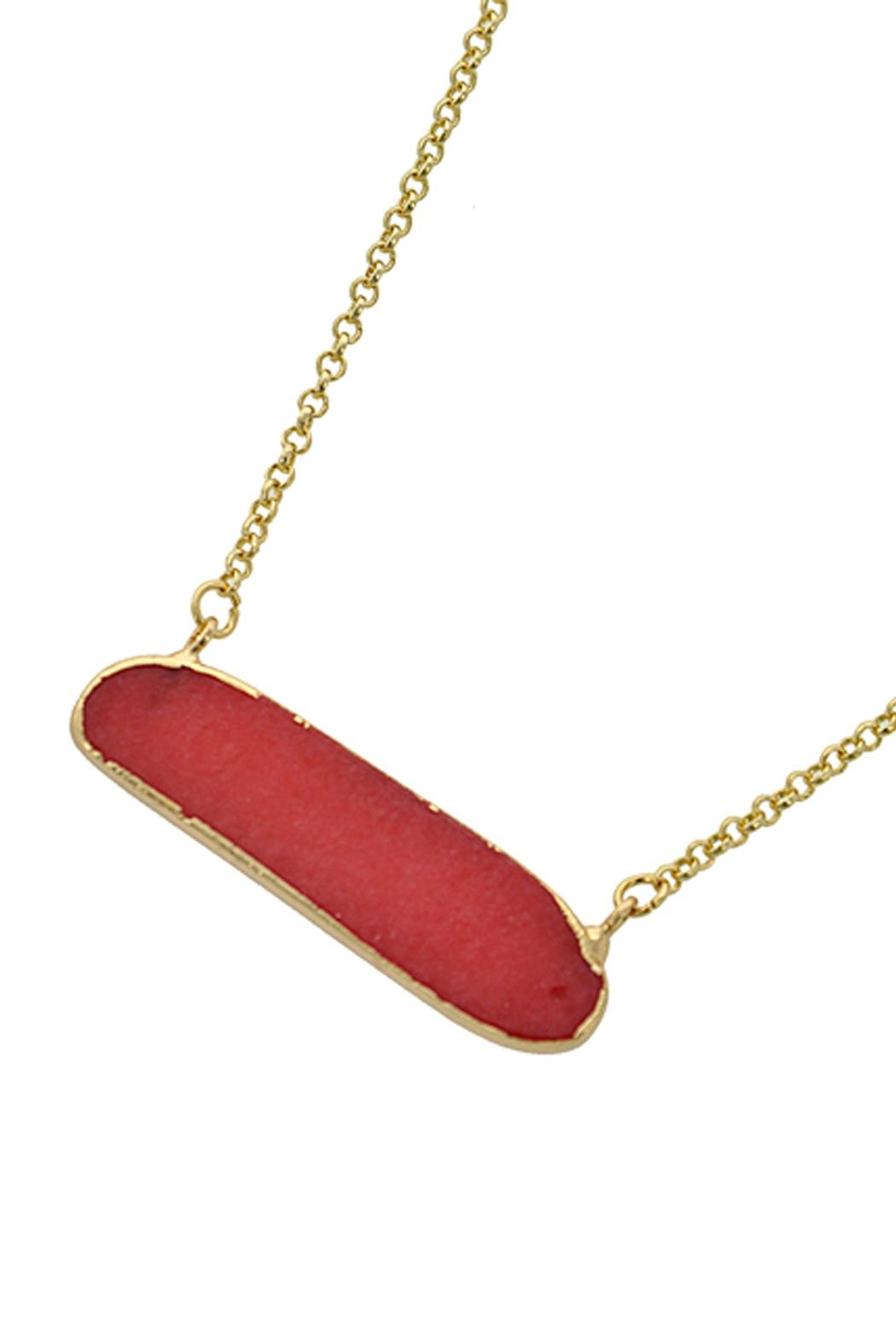 Wild Lilies Jewelry  Red Bar Necklace - Main Image