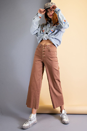 easel  Isla Wide Leg Pant - Front cropped