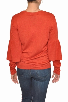 Just Female Red Bell Sweater - Alternate List Image
