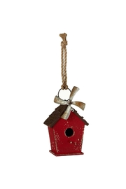 Ganz Red Birdhouse W/windmill - Product Mini Image