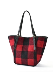 Charlie Paige Red/black Plaid Tote - Product Mini Image