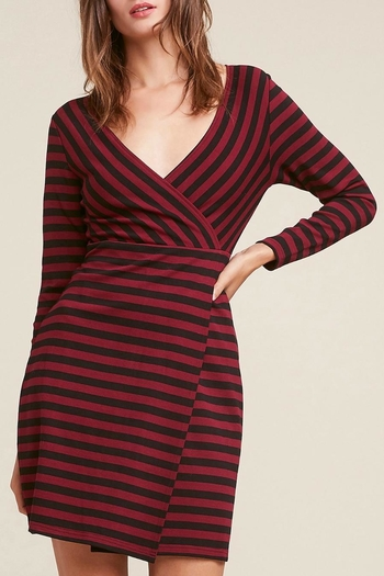 Bb Dakota Redblack Striped Dress From New Jersey By Wink Boutique