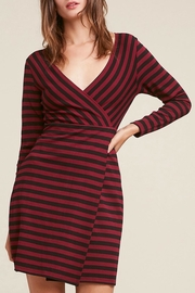 BB Dakota Red/black Striped Dress - Product Mini Image