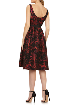 Kay Unger Red/Blk Print Dress - Alternate List Image