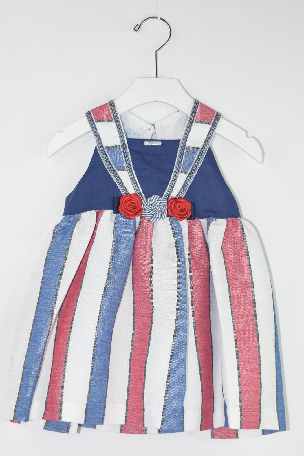 Foque Red & Blue Dress - Front Cropped Image