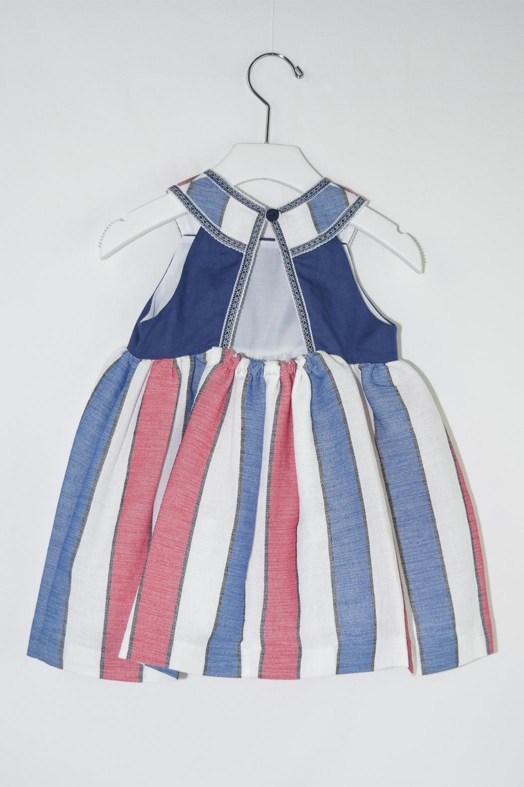 Foque Red & Blue Dress - Front Full Image