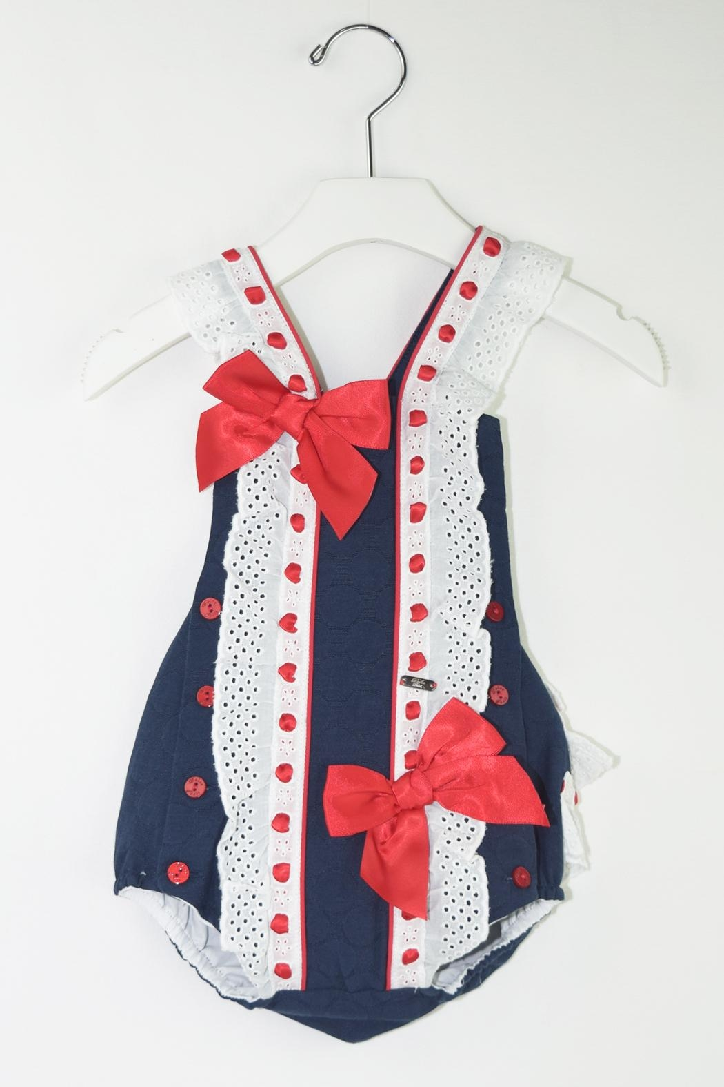 Dolce Petit Red & Blue Romper - Main Image