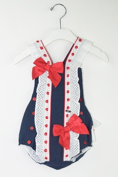 Shoptiques Product: Red & Blue Romper