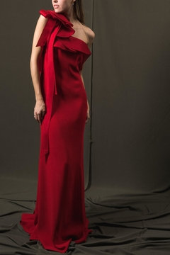 Angel Sanchez Red Bow Backless - Product List Image