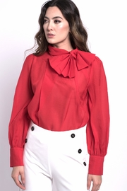 DOLCICIMO Red Bow Top - Product Mini Image