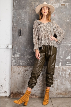 Easel  Cheetah Animal Print Chiffon - Product List Image