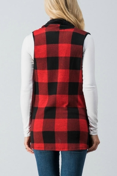 Trend:notes Red Buffalo-Plaid Vest - Alternate List Image