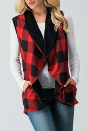 Trend:notes Red Buffalo-Plaid Vest - Product Mini Image