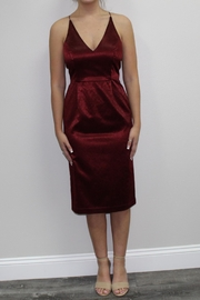 Black Swan Red Burgundy Dress - Product Mini Image