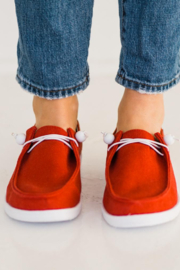Corkys  Red Canvas Slip On Sneaker - Front cropped