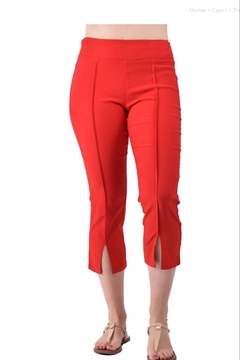 Ethyl Thousand Oaks Red capri pants - Product List Image