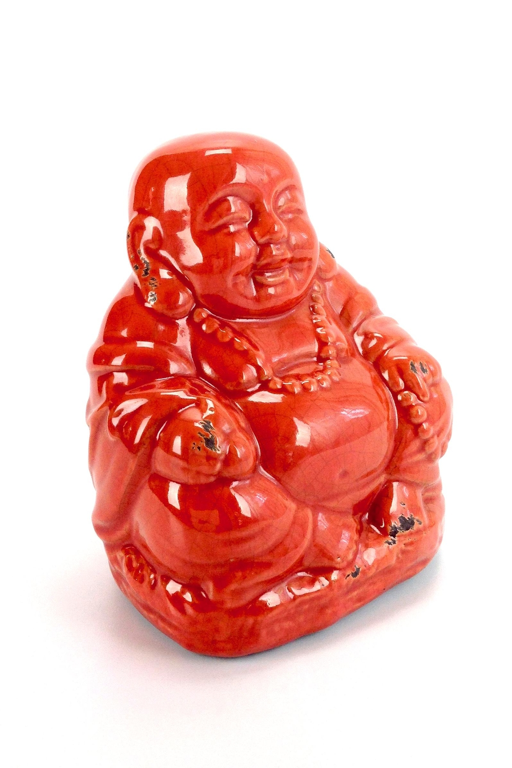 GHome2 Red Ceramic Buddha - Front Full Image