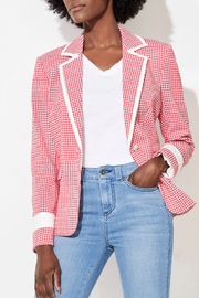 ECRU-DESIGN Red Check Combo Jacket - Front cropped