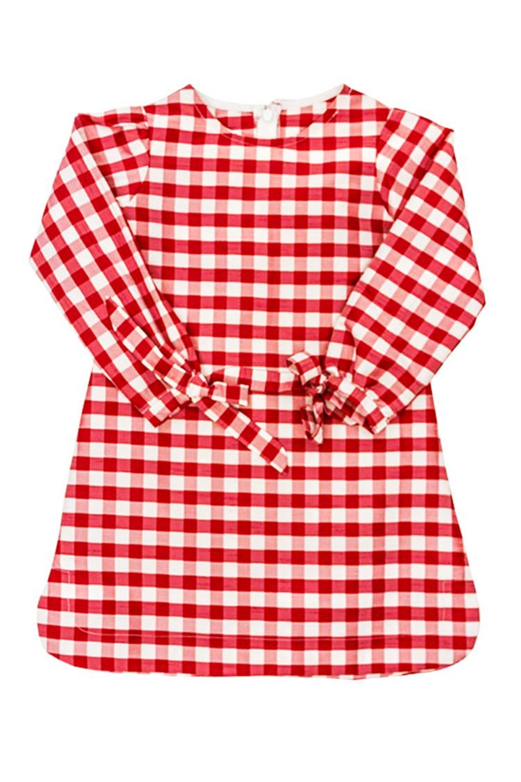 Bailey Boys Red-Check Raw-Silk Tunic/dress - Side Cropped Image