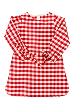 Bailey Boys Red-Check Raw-Silk Tunic/dress - Alternate List Image