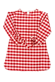 Bailey Boys Red-Check Raw-Silk Tunic/dress - Side cropped