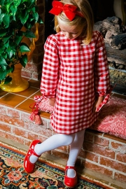 Bailey Boys Red-Check Raw-Silk Tunic/dress - Front full body