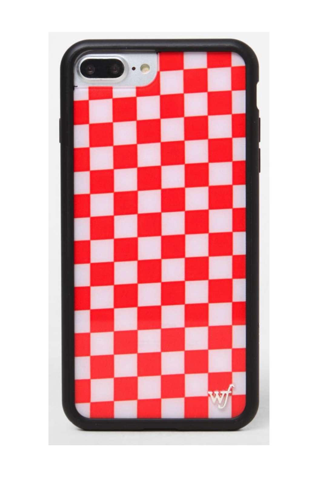 wildflower Red Checker Case - Front Cropped Image