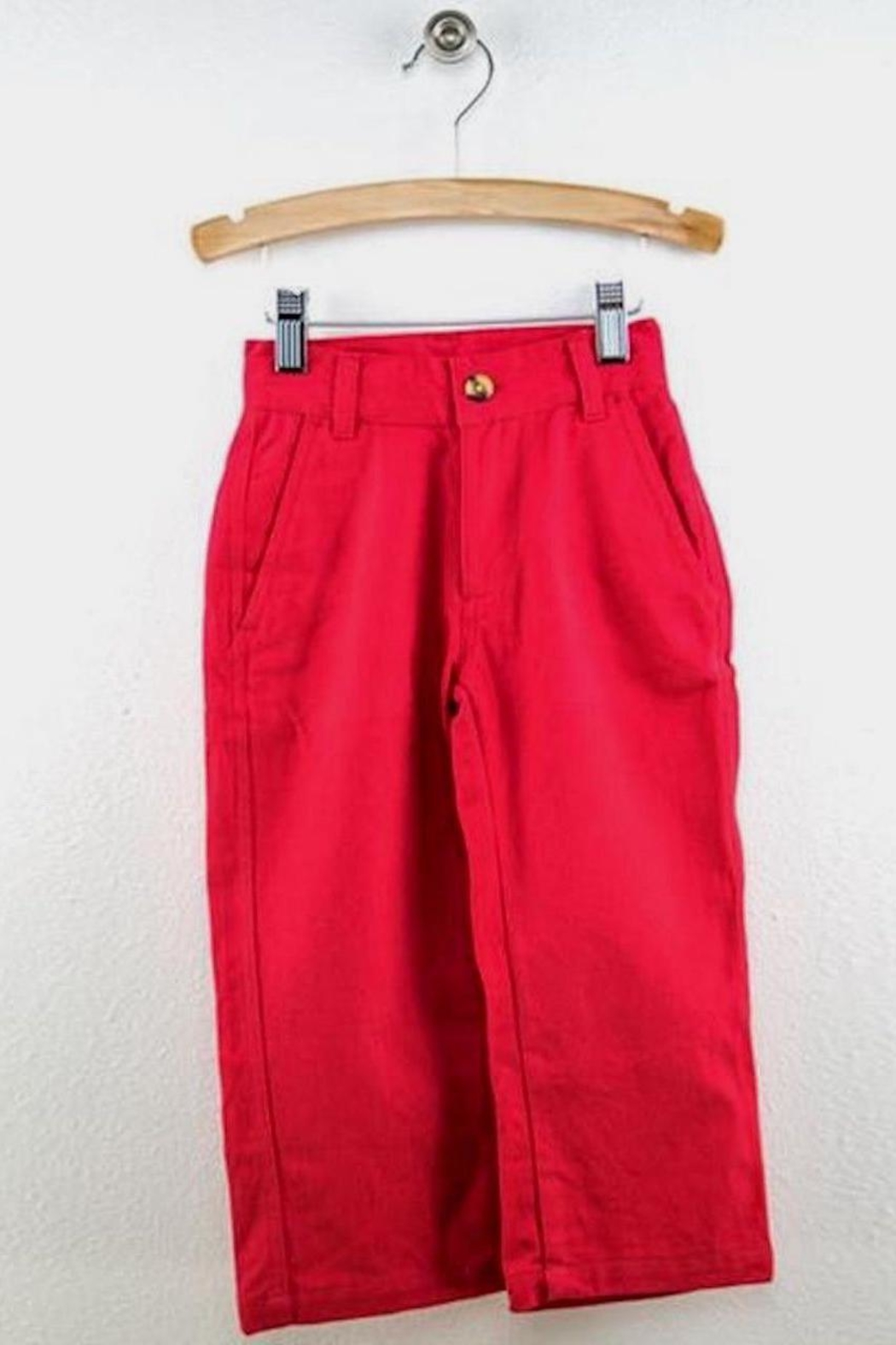 Wes and Willy Red Chino Pants - Main Image