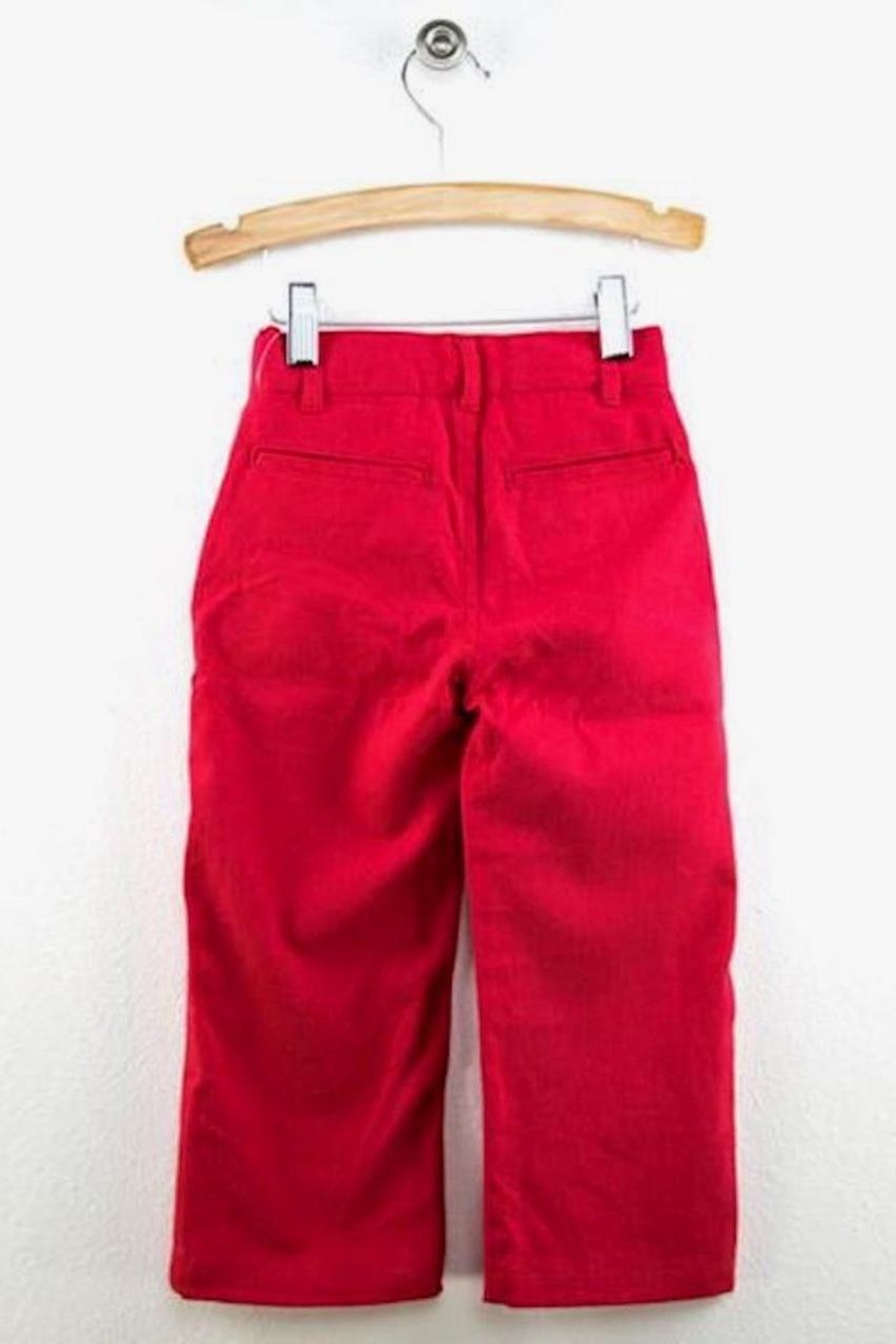 Wes and Willy Red Chino Pants - Front Full Image