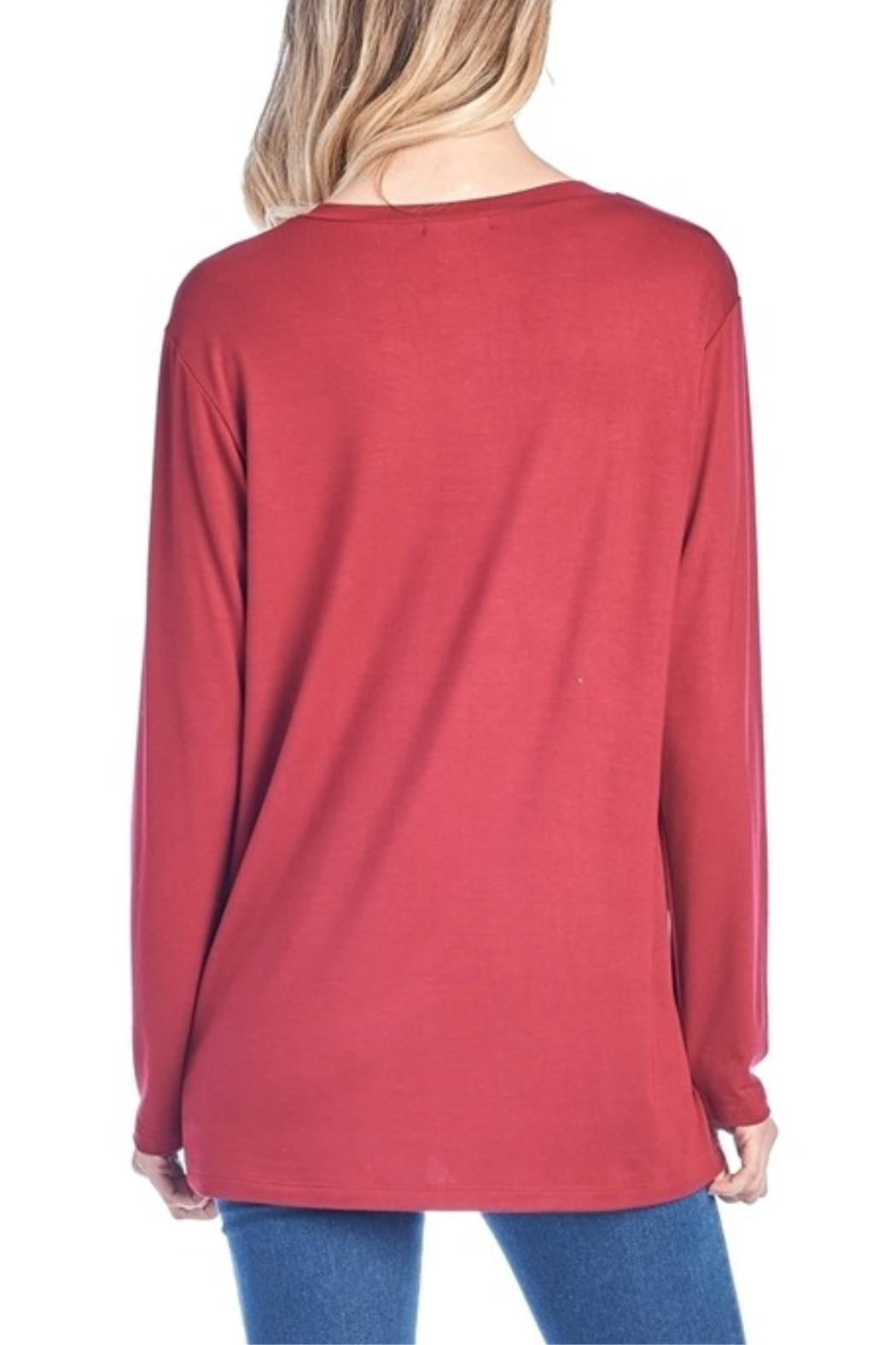 Zutter Red Christmas Top - Front Full Image